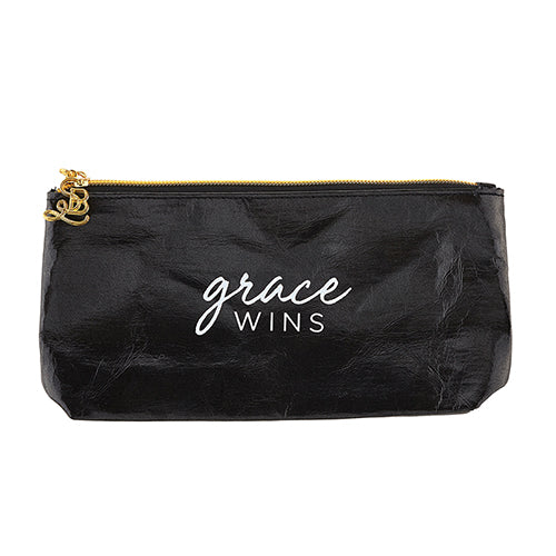 Accessories: Ladies Hand Pouch Purse - Grace Wins - Black