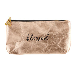 Accessories: Ladies Hand Pouch Purse - Blessed - Rose Gold