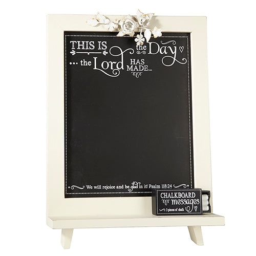 Tabletop Decor: Inspirational Scripture Chalkboard - Psalms 118:24