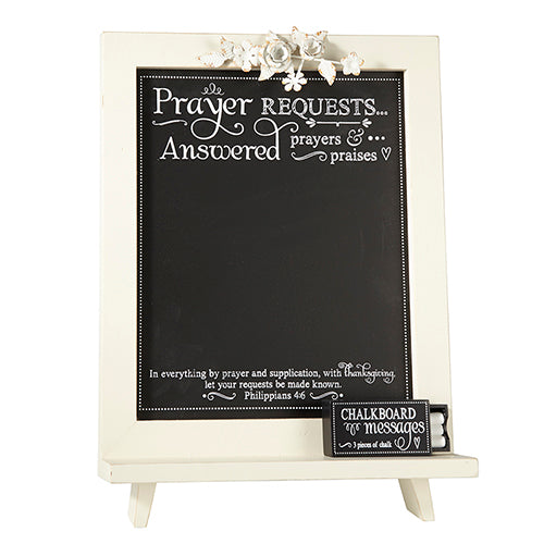 Tabletop Decor: Inspirational Scripture Chalkboard - Philippians 4:6