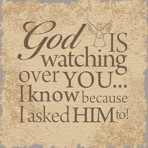 Tabletop Inspirational Plaque: God is Watching Over You...  Tabletop Decor
