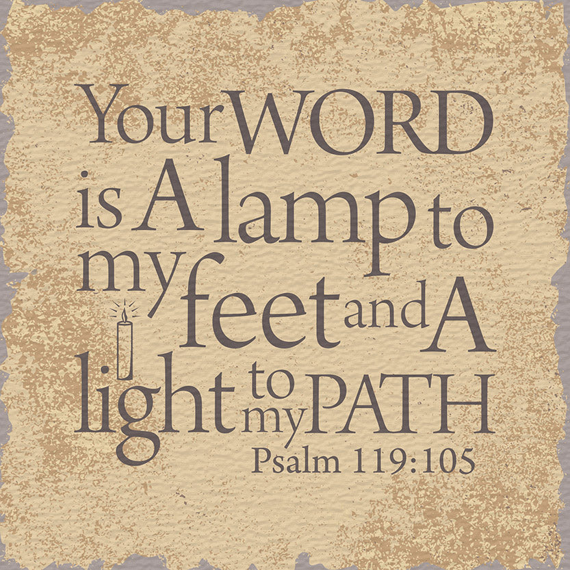 Tabletop Inspirational Plaque: Your Word Is A Lamp To My Feet... Tabletop Decor