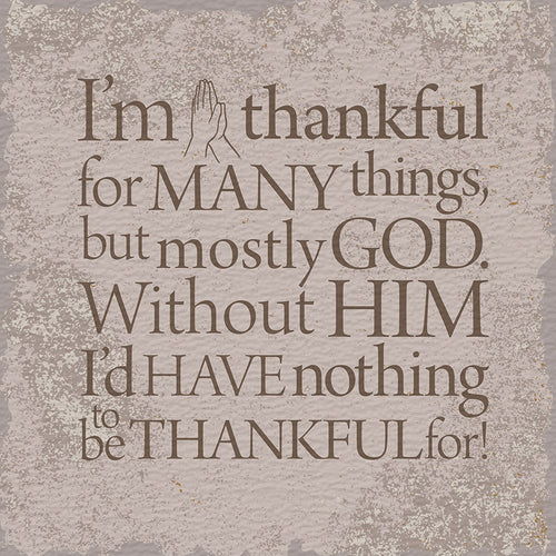 Tabletop Inspirational Plaque: Thankful - Tabletop Decor