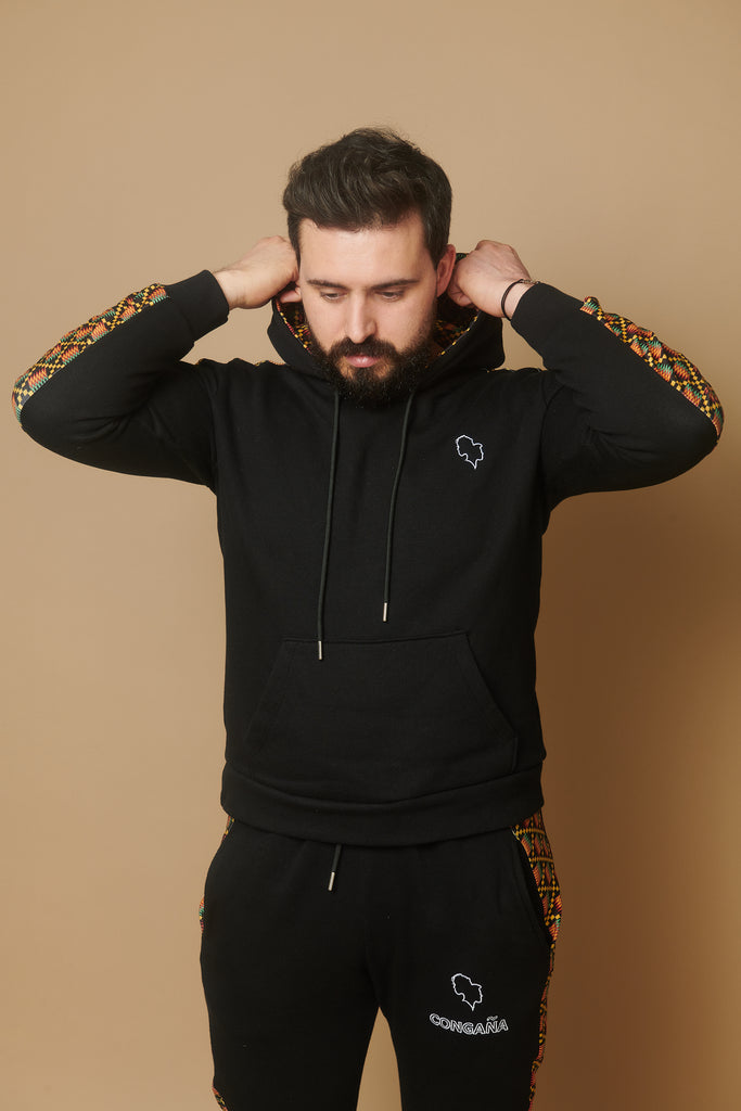 SWEAT A CAPUCHE HOMME : Motif Kenté