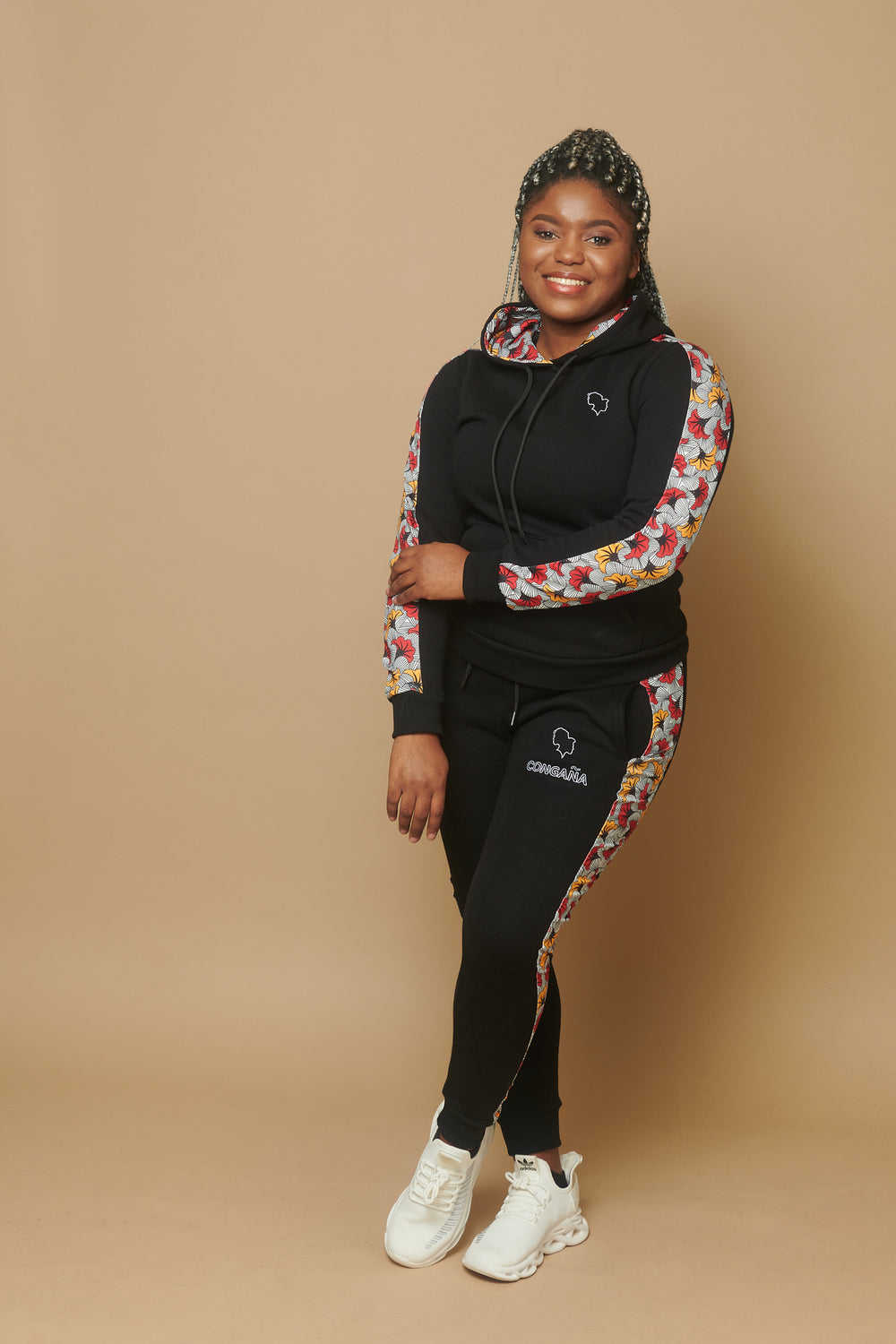 ensemble sweat motif africain congana