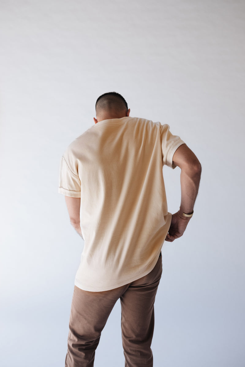 The-Original-Centered-Pocket-T-Shirt-Maison-Ogé-In-Coffee-Stained