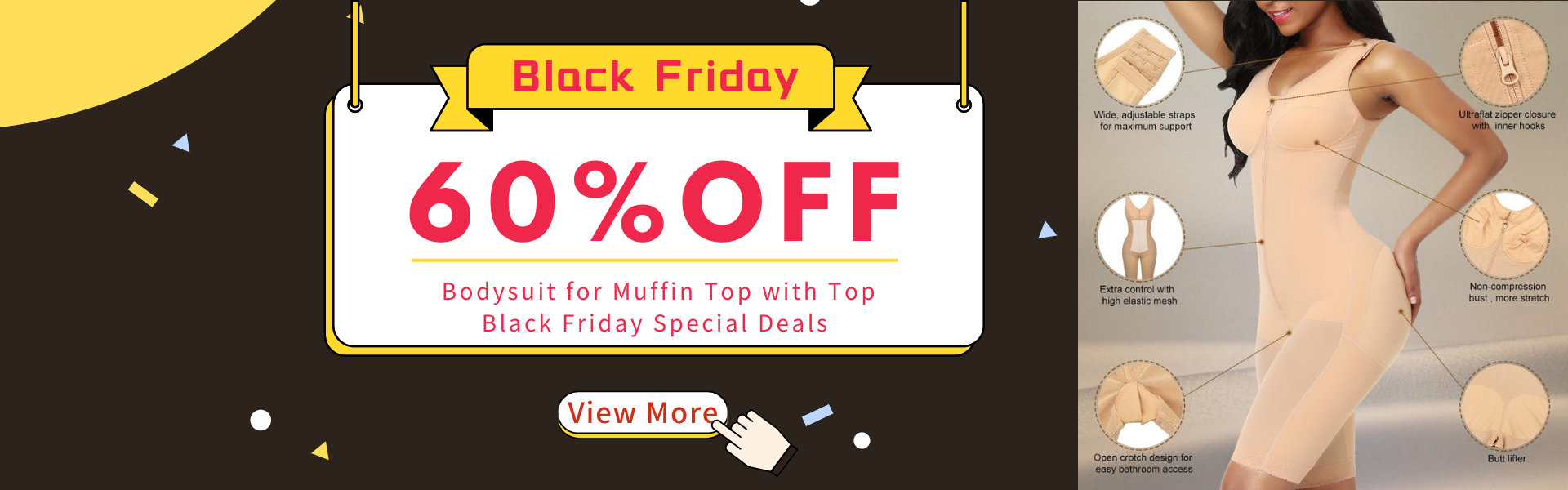 Are You Looking for the Best Shapewear and Bodysuit for Muffin Top? Best Shapewear Online with Top Black Friday Special Deals