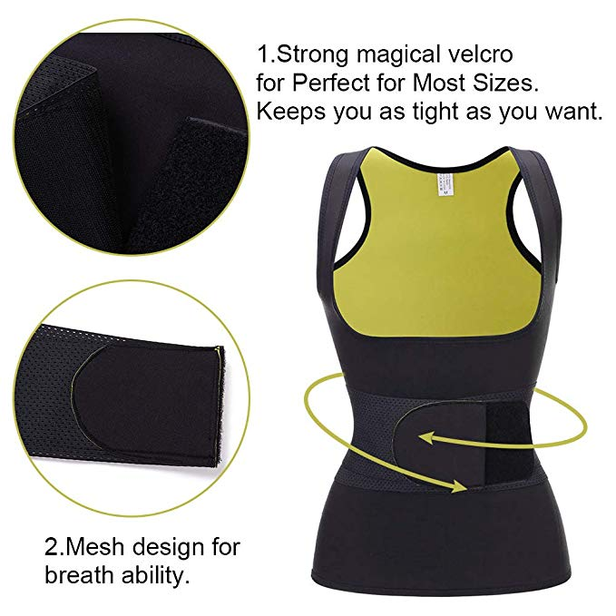Neoprene Cami Vest Waist Belt Body Shaper Top | Loverbeauty