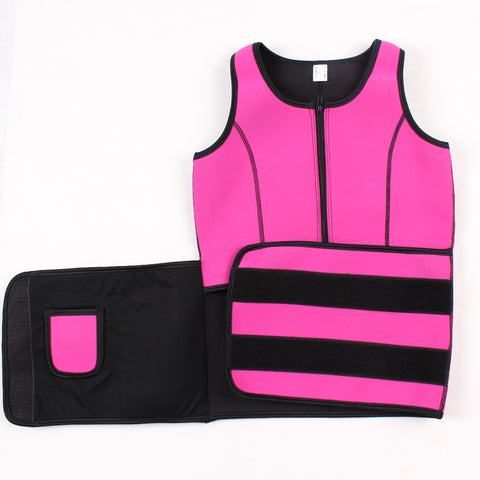 Super Faddish Neoprene Vest Hot Sweat Body Shapers With Belt Posture Correction for Weight Loss