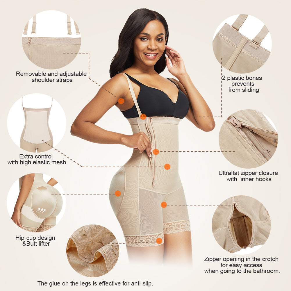Loverbeauty Postpartum Surgery Tummy Control Shapewear with Side Zipper
