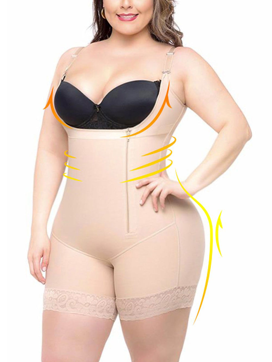 Plus Size Bodysuit Shapewear | Ultra Conceal Compression Shaping Shorts