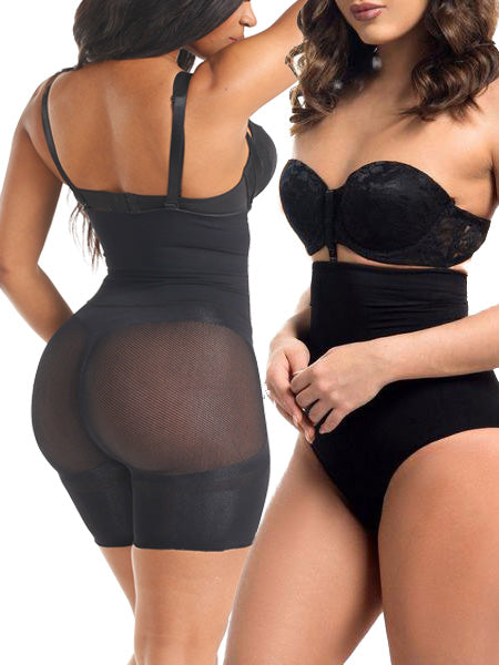 Loverbeauty Special Offer | 2-Piece Pack High Waisted Tummy-tucking Butt-lifting Shaping Shorts - loverbeauty