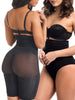 2-Piece Pack High Waisted Tummy-tucking Butt-lifting Shaping Shorts - loverbeauty