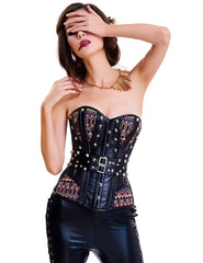 Plastic Bones Panel Steampunk Overbust Corset Studs - loverbeauty