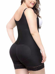 Loverbeauty Plus Size Bodysuit Shapewear | Ultra Conceal Compression Shaping Shorts - loverbeauty