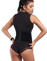 Zipper Front Slimming Body Shapers Vest Top With Belt - loverbeauty