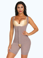 Loverbeauty Flatten Tummy Bodysuit Shapewear With Crotchless Shaper Panty - loverbeauty