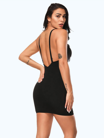 Loverbeauty Deep V Neck Backless Shapewear Seamless Slimming Body