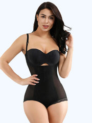 Loverbeauty Adjustable Black Strap Lace Full Body Shapewear Secret Slimming - loverbeauty