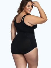 Loverbeauty Adjustable Crotch Hooks Tight Bodyshort Shapewear - loverbeauty