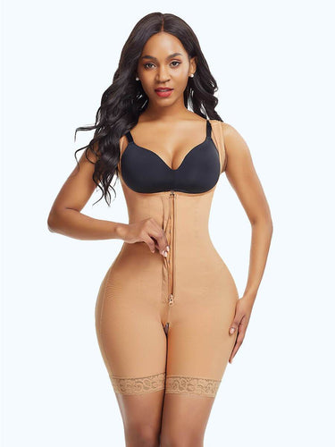 PRESALE-Bodysuit Shaper With Hook-and-Eye Zipper Closure - loverbeauty
