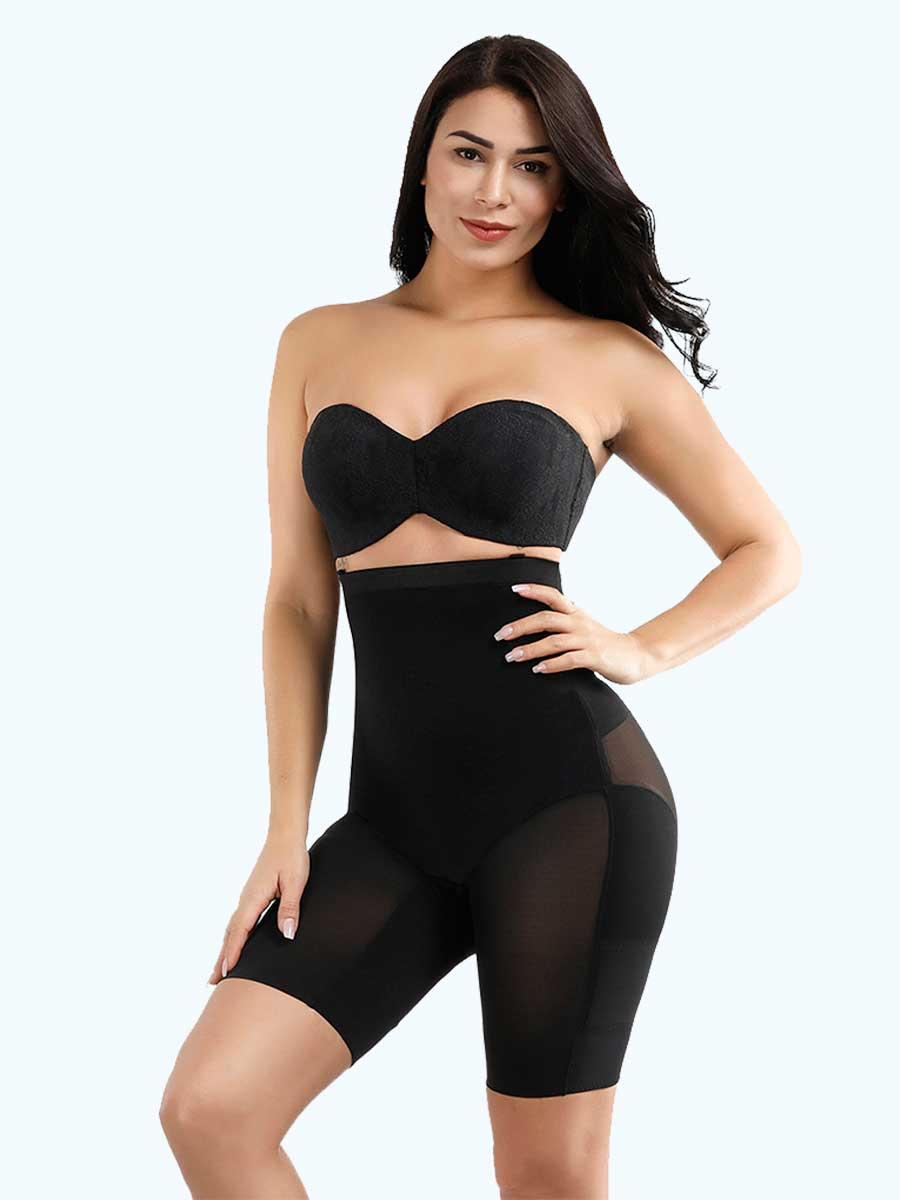 Loverbeauty Crotchless Booty Lifting Cross Body Shaper - loverbeauty