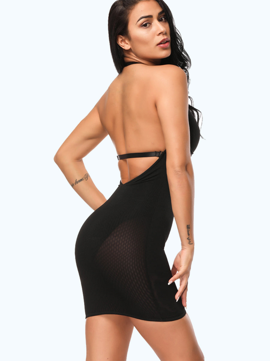 Deep V Neck Backless Shapewear Seamless Slimming Body Dress