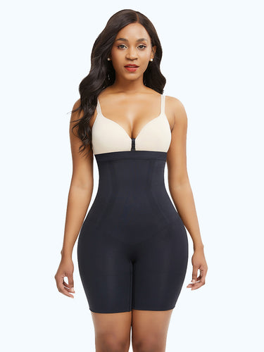 Loverbeauty Lycra High-Waisted Mid-Thigh Shape Short - loverbeauty