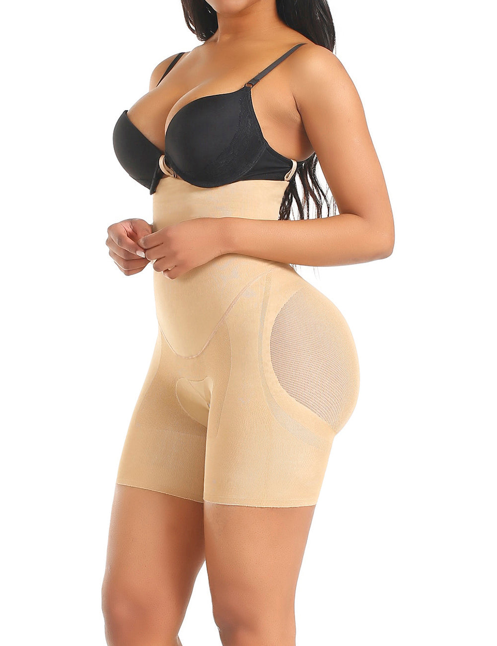 Loverbeauty High Waist Shaping Shorts | Double Tummy Layer Butt Lifter - loverbeauty