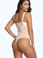 Loverbeauty Lace Trim Thong Bodysuit Shapewear Calories Burning - loverbeauty