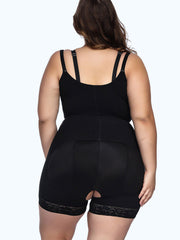 Loverbeauty Plain Boyleg Full Body Shaper Adjustable Straps Firm Control - loverbeauty