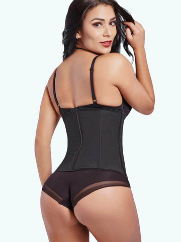 Loverbeauty Plus Size 7 Steel Bones Zipper Latex Waist Cincher