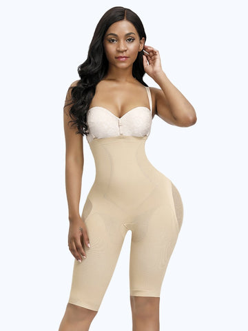 Loverbeauty Seamless Mesh Straps Body Shaper