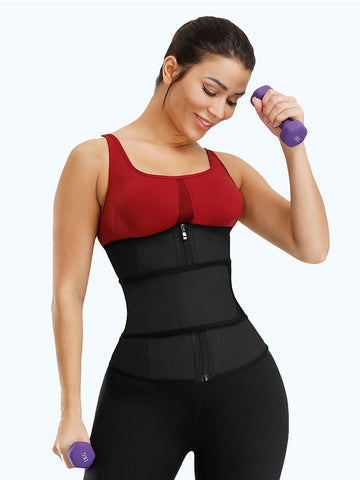 Loverbeauty Velcro Neoprene Latex Waist Trainer with Zipper