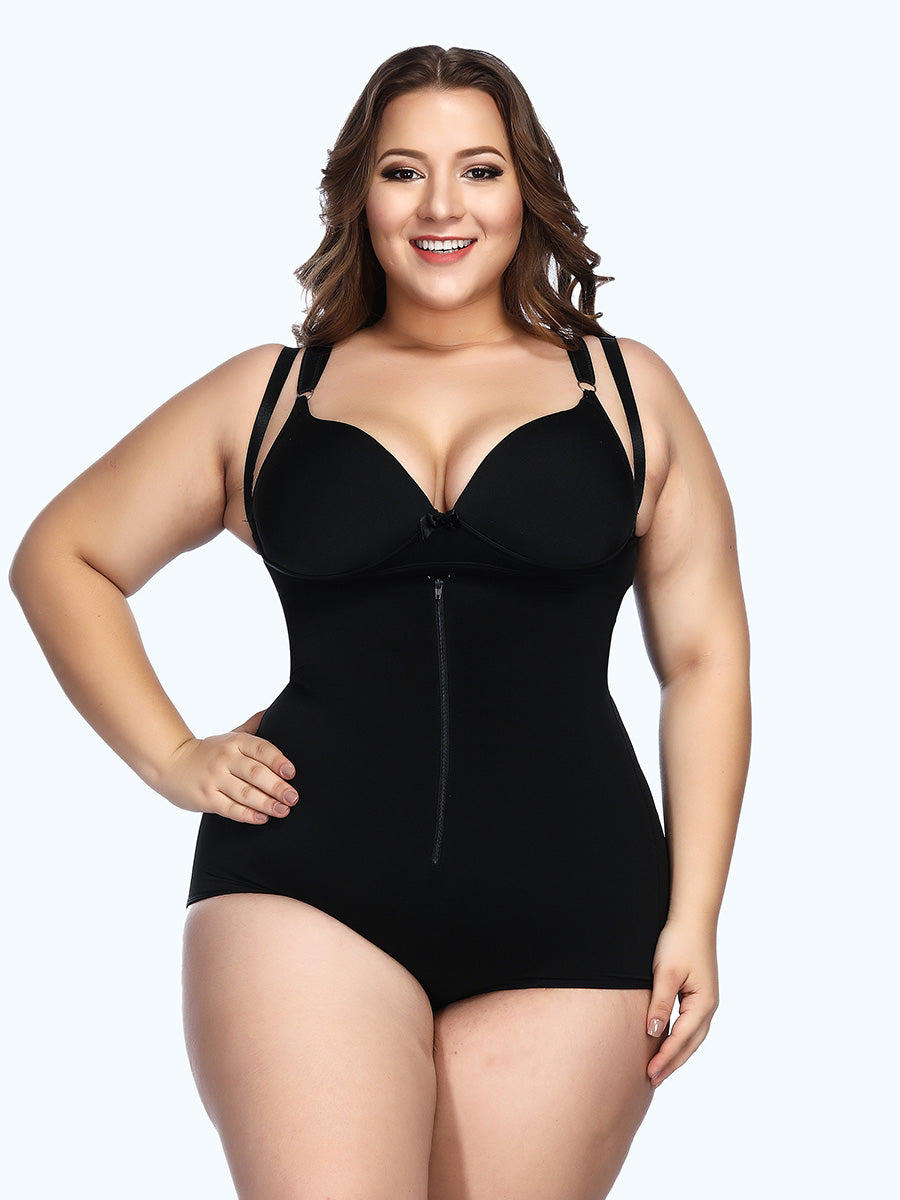 Adjustable Crotch Hooks Tight Bodyshort Shapewear