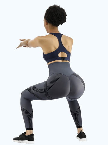 Loverbeauty 3D Print Reversible High Waisted Booty Shaping Leggings
