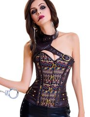 Authentic Steel Boned Waist Training Corset Top Leather Loverbeauty