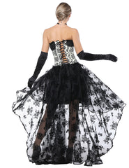 Luxury Lace-Up Back Corset Two Pieces Irregular Skirt Figure Sculpting