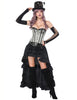 Tempting Mental Hole Overbust Corset With Layered Skirt Tummy Control - loverbeauty