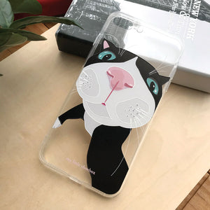My Little Shoebox Tuxedo Black White Cute Cat Phone Case soft TPU case iPhoneX Iphone8 Iphone7 Samsung s8
