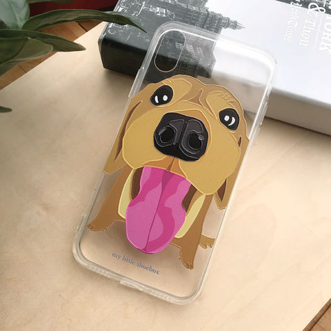 My Little Shoebox Golden Retriever Phone Case soft TPU case iPhoneX Iphone8 Iphone7 Samsung s8