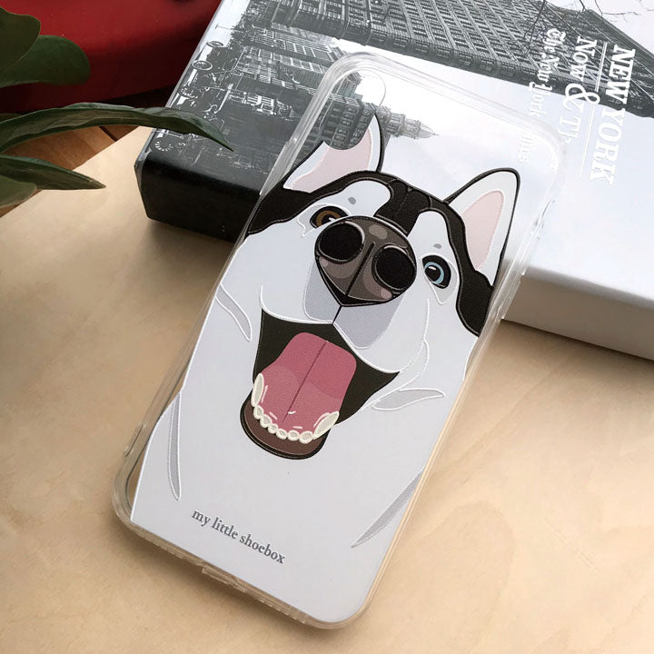 My Little Shoebox Husky Dog Cute Phone Case soft TPU case iPhoneX Iphone8 Iphone7 Samsung s8