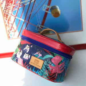 Handheld Cosmetic Toiletry Zipper Pouch Bag