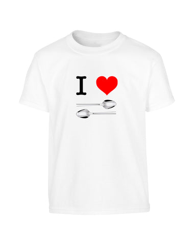 'I LOVE SPOONS' Wetherspoon Parody T-Shirt (Unisex)