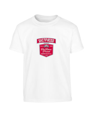 Smirnoff Logo Parody 'S**tfaced, Since xxxx' Funny Customisable Birthday T-Shirt (Unisex) 100% Cotton