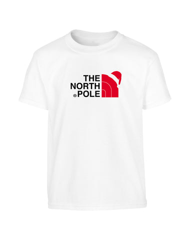 'THE NORTH POLE' North Face Parody Unisex Christmas T-Shirt (Unisex)