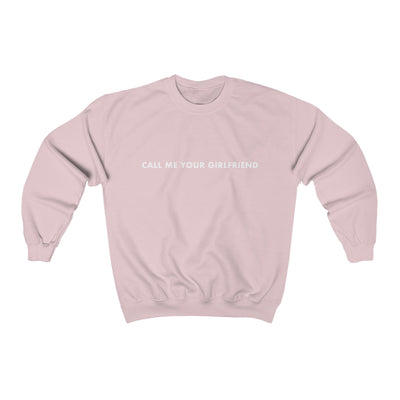 Madysyn Rose Call Me Your Girlfriend Sweatshirt (Light Pink)