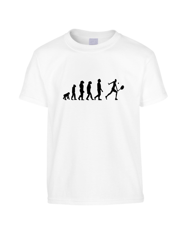 Tennis Evolution Funny T-Shirt (Unisex)