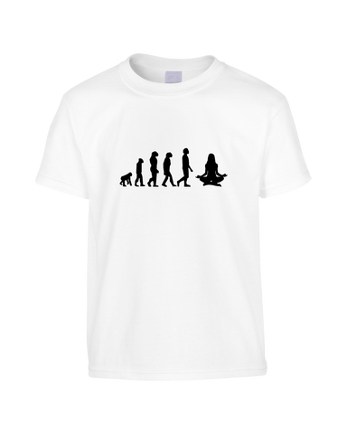 Yoga Evolution Funny T-Shirt (Unisex)