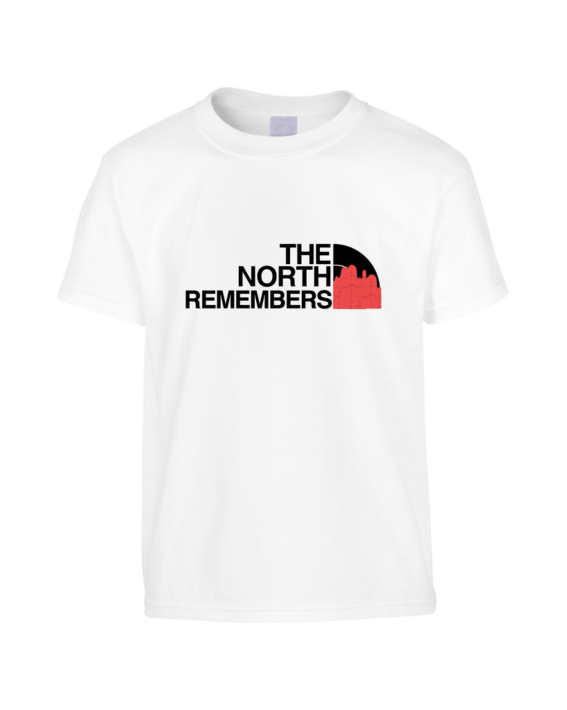 3c7047c42 Game of Thrones Inspired North Face Logo Parody 'The North Remembers' Funny  T-Shirt (Unisex)